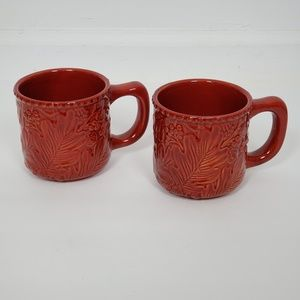 Artistic Accents Mug Red Set of 2